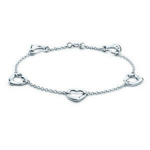 AUTH Tiffany Elsa Peretti® Open Heart Bracelet
